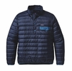 Patagonia Mens Down Snap-T Pullover Navy Blue