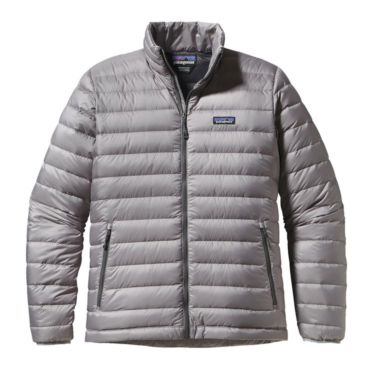 Patagonia Mens Down Sweater Jacket Feather Grey W Forge Grey