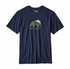 Patagonia Mens Eat Local Upstream Cotton T-Shirt Navy Blue