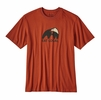 Patagonia Mens Eat Local Upstream Cotton T-Shirt Roots Red