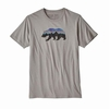 Patagonia Mens Fitz Roy Bear Organic Cotton T-Shirt Feather Grey (Close Out)