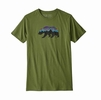 Patagonia Mens Fitz Roy Bear Organic Cotton T-Shirt Sprouted Green