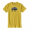 Patagonia Mens Fitz Roy Bison Cotton/ Poly T-Shirt Chromatic Yellow