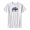 Patagonia Mens Fitz Roy Bison Cotton/ Poly T-Shirt White