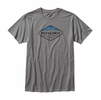 Patagonia Mens Fitz Roy Crest Cotton/ Poly T-Shirt Narwhal Grey