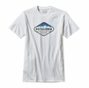 Patagonia Mens Fitz Roy Crest Cotton/ Poly T-Shirt White