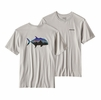 Patagonia Mens Fitz Roy Trevally Cotton T-Shirt Tailored Grey