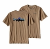 Patagonia Mens Fitz Roy Trout Cotton T-Shirt Mojave Khaki