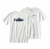 Patagonia Mens Fitz Roy Trout Cotton T-Shirt White