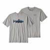 Patagonia Mens Fitz Roy Trout Responsibili-Tee Drifter Grey
