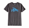 Patagonia Mens Flying Fish Cotton/ Poly T-Shirt Black/ Radar Blue