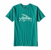 Patagonia Mens Flying Fish Cotton/ Poly T-Shirt True Teal