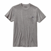 Patagonia Mens Flying Fish Recycled Poly Pocket Responsibili-Tee Heather Grey