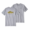 Patagonia Mens Golden Dorado World Trout Responsibili-Tee Drifter Grey