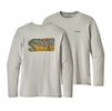 Patagonia Mens Graphic Tech Fish Tee Eye of Brown: Tailored Grey