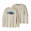 Patagonia Mens Graphic Tech Fish Tee Fotz Roy Bass: Pelican