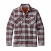 Patagonia Mens Insulated Fjord Flannel Jacket Migration Plaid: Drumfire Red