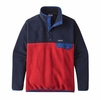 Patagonia Mens Lightweight Synchilla Snap-T Fleece Pullover Classic Red (close out)