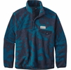 Patagonia Mens Lightweight Synchilla Snap-T Fleece Pullover Ferns: Big Sur Blue