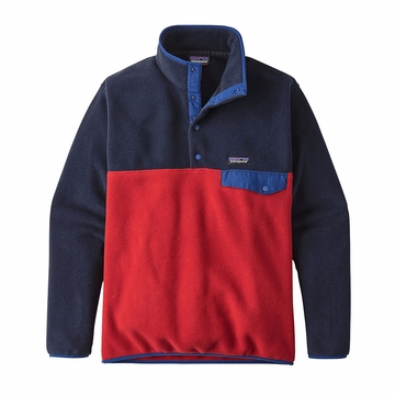 Patagonia Mens Lightweight Synchilla Snap-T Fleece Pullover Classic Red