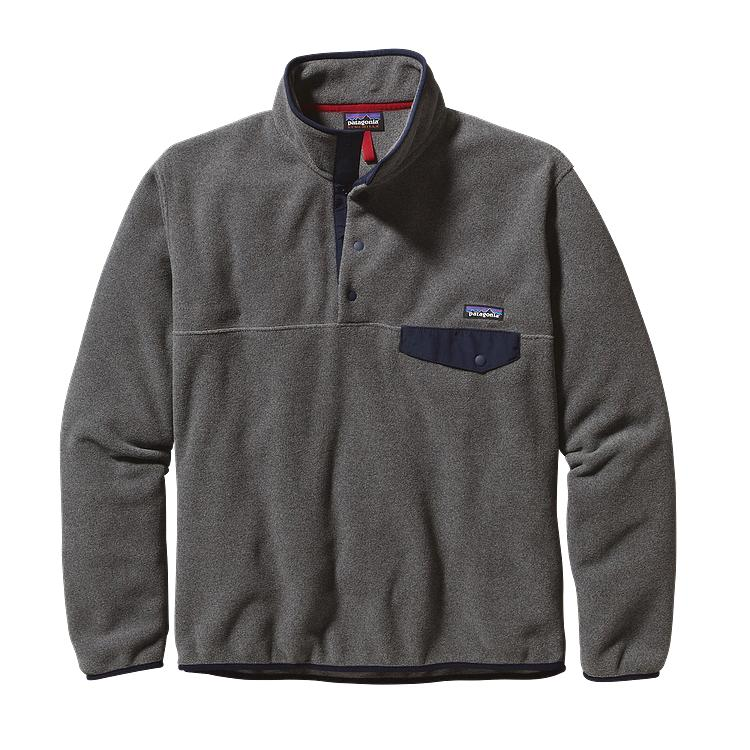 Patagonia Mens Lightweight Synchilla Snap-T Fleece Pullover Nickel ...