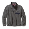 Patagonia Mens Lightweight Synchilla Snap-T Fleece Pullover Nickel w/ Navy Blue