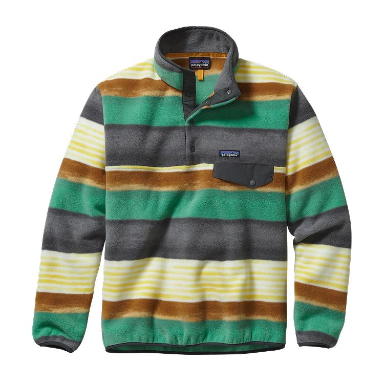 b5834c3ebdc1 Patagonia Mens Lightweight Synchilla Snap-T Fleece Pullover Painted Fitz  Stripe  Forge Grey