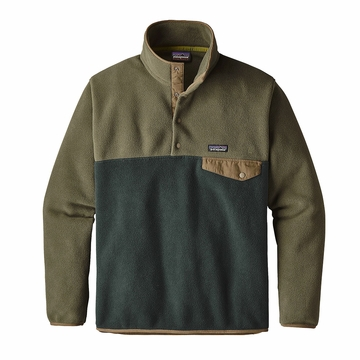 Patagonia Mens Lightweight Synchilla Snap-T Fleece Pullover Industrial Green