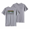 Patagonia Mens Line Logo Badge Cotton/ Poly Responsibili-Tee Drifter Grey
