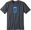 Patagonia Mens Live Simply Mornings Cotton/ Poly Responsibili-Tee Forge Grey