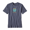 Patagonia Mens Live Simply Mornings Cotton/ Poly Responsibili-Tee Prussian Blue