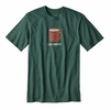 Patagonia Mens Live Simply Mornings Cotton/ Poly Responsibili-Tee Riparian Forest