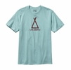 Patagonia Mens Live Simply Tent Life Cotton T-Shirt Tubular Blue