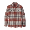 Patagonia Mens Long-Sleeved Fjord Flannel Shirt Bucketop Plaid: Roots Red