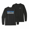 Patagonia Mens Long-Sleeved P-6 Logo Responsibili-Tee Black