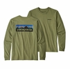 Patagonia Mens Long-Sleeved P-6 Logo Responsibili-Tee Crag Green