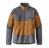 Patagonia Mens Long-Sleeved R1 Field 1/4-Zip Bear Brown