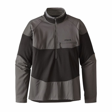 Patagonia Mens Long-Sleeved R1 Field 1/4-Zip Black (close out)