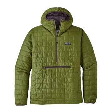 Patagonia Mens Nano Puff Bivy Pullover Sprouted Green
