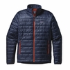 Patagonia Mens Nano Puff Jacket Navy Blue/ Paintbrush Red