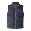 Patagonia Mens Nano Puff Vest Navy Blue/ Paintbrush Red