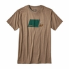 Patagonia Mens Napping Camper Cotton/ Poly T-Shirt Mojave Khaki