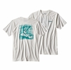 Patagonia Mens No Porpoise Cotton/ Poly T-Shirt White