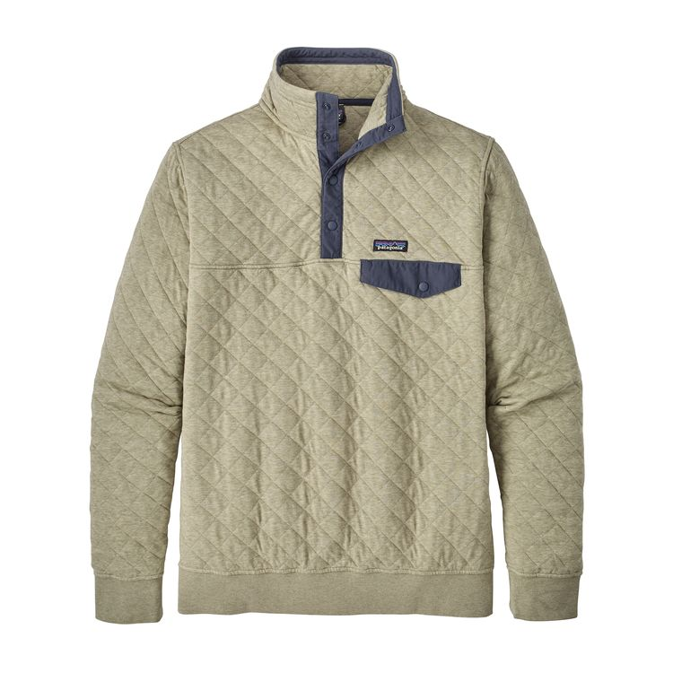 Patagonia Mens Organic Cotton Quilt Snap T Pullover Shale