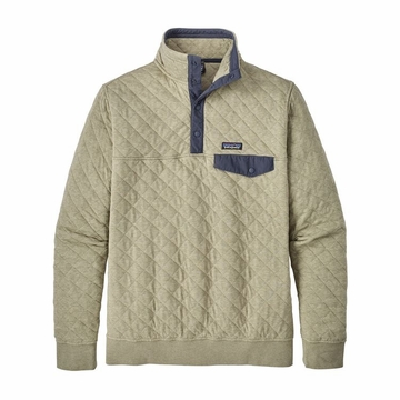 Patagonia Mens Organic Cotton Quilt Snap-T Pullover Shale