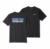 Patagonia Mens P-6 Logo Responsibili-Tee Black (Close Out)