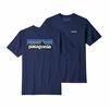 Patagonia Mens P-6 Logo Responsibili-Tee Classic Navy (Close Out)
