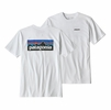 Patagonia Mens P-6 Logo Responsibili-Tee White (Close Out)