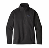 Patagonia Mens Performance Better Sweater Fleece 1/4 Zip Black  (close out)