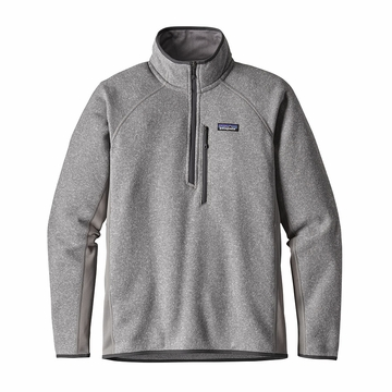 Patagonia Mens Performance Better Sweater Fleece 1/4 Zip Feather Grey
